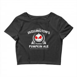 Skellington'spumpkin ale Crop Top | Artistshot