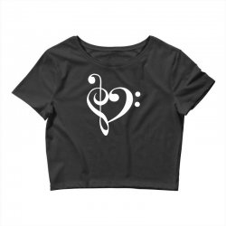 music heart rock baseball Crop Top | Artistshot