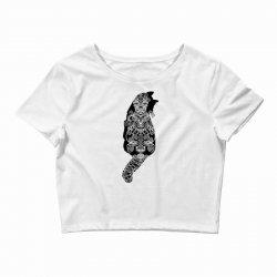 cats black Crop Top   Artistshot