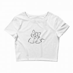the cat simple Crop Top | Artistshot