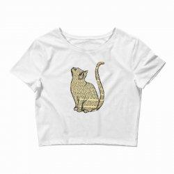 cats text Crop Top | Artistshot