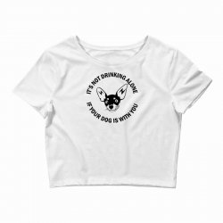 funny drinking dog Crop Top | Artistshot