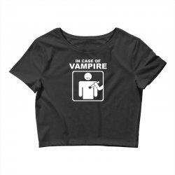 funny vampire Crop Top | Artistshot