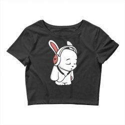love music cartoon bunny Crop Top | Artistshot