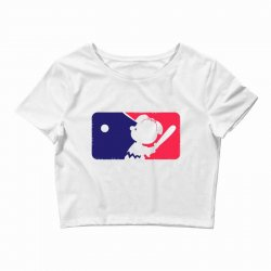 Peanuts League Baseball Crop Top | Artistshot