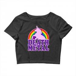 Funny Death Metal Unicorn Rainbow Crop Top | Artistshot