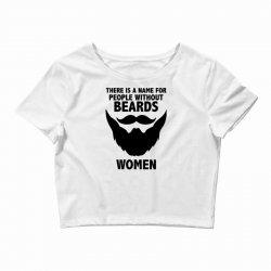 funny beards Crop Top | Artistshot