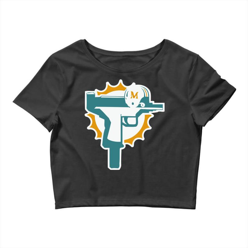 miami dolphins uzi gun t shirt football jersey funny ryan tannehill new  rare! Crop Top b2b8d4d3a