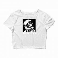 funny monkey astronomy Crop Top | Artistshot