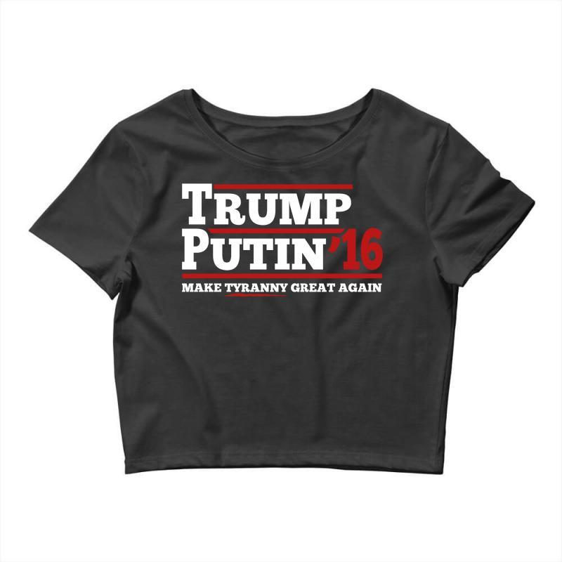 Trump Putin 2016 Crop Top   Artistshot