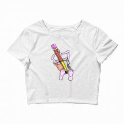 Funny cartoon pencil sharpener Crop Top   Artistshot