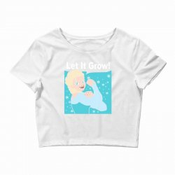 funny gym elsa let it grow frozen fitness Crop Top | Artistshot