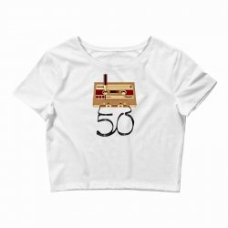 music tape retro Crop Top | Artistshot