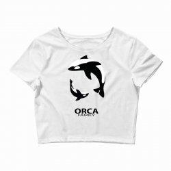 ORCA FAMILY Crop Top | Artistshot