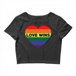 Love Wins Crop Top   Artistshot