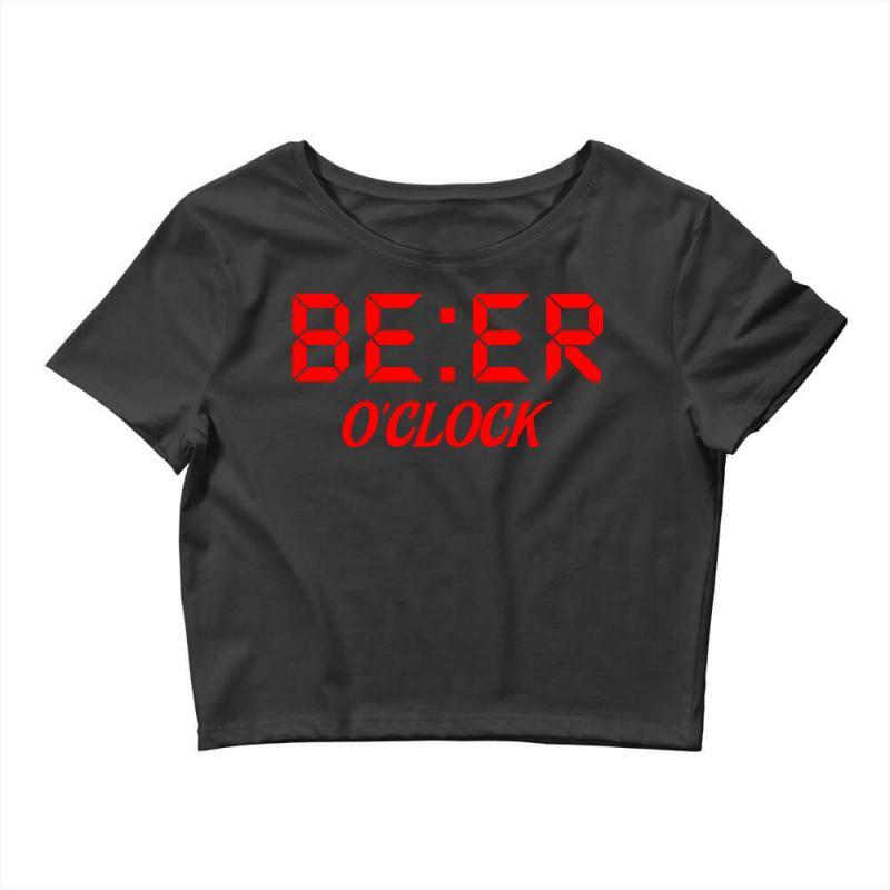 Beer O'clock Crop Top   Artistshot