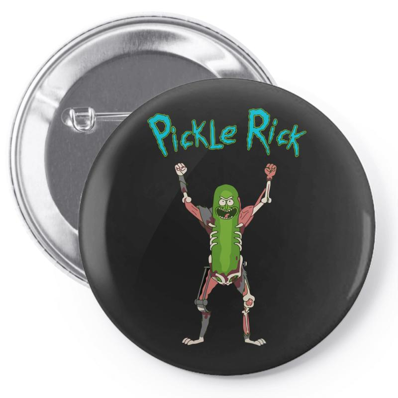 687945a6026 Custom Pickle Rick Pin-back Button By Killakam - Artistshot