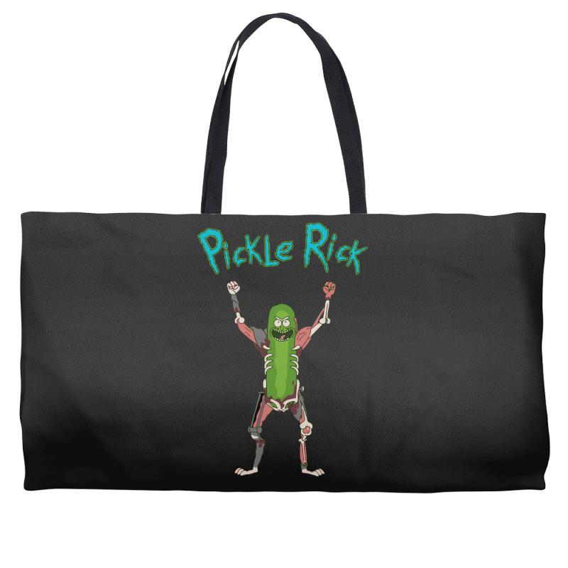 ddbb4d24313 Custom Pickle Rick Weekender Totes By Killakam - Artistshot