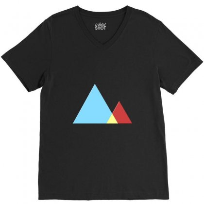 Mountains V-neck Tee Designed By Mdk Art