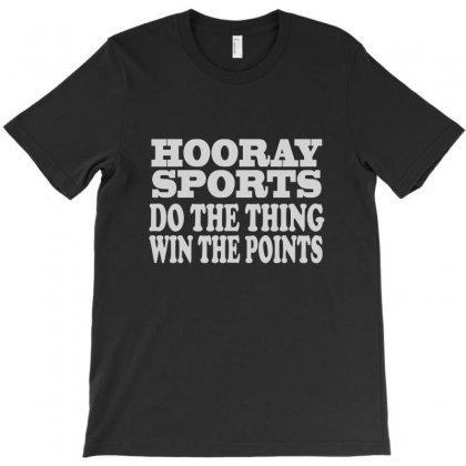Hooray Sports Win Points T-shirt Designed By Mdk Art