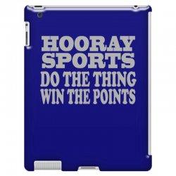 hooray sports win points iPad 3 and 4 Case | Artistshot