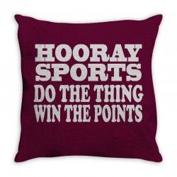 hooray sports win points Throw Pillow | Artistshot