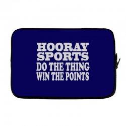 hooray sports win points Laptop sleeve | Artistshot