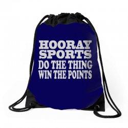 hooray sports win points Drawstring Bags | Artistshot