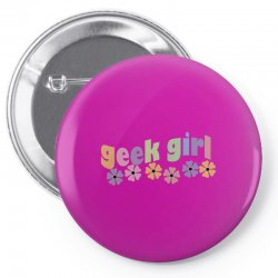 geek girl daisies Pin-back button | Artistshot