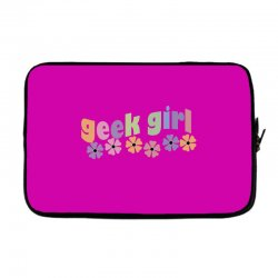 geek girl daisies Laptop sleeve | Artistshot