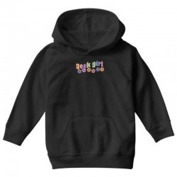 geek girl daisies Youth Hoodie | Artistshot