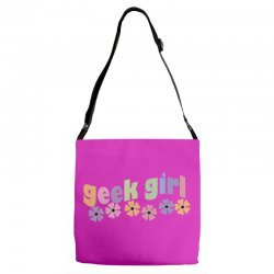 geek girl daisies Adjustable Strap Totes | Artistshot
