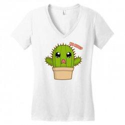 funny cactus hug Women's V-Neck T-Shirt | Artistshot
