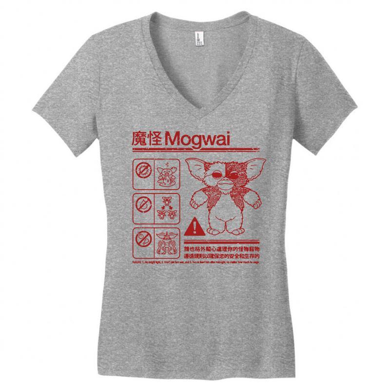023cb337 Custom Mogwai Warning Women's V-neck T-shirt By Deomatis9888 ...