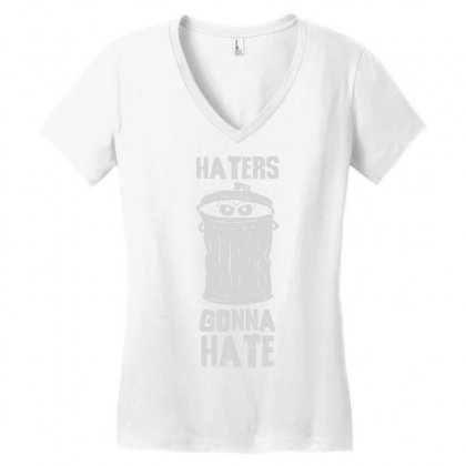 Haters Gonna Hate Women's V-neck T-shirt Designed By Deomatis9888