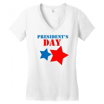 President Day Women's V-neck T-shirt Designed By Marla_arts