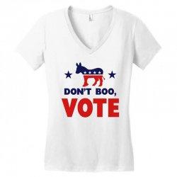Don't Boo Vote 02 Women's V-Neck T-Shirt | Artistshot