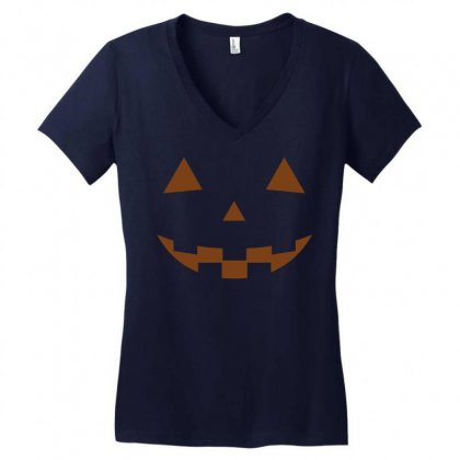 Halloween Women's V-neck T-shirt Designed By Designbysebastian