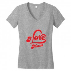 I love mom Women's V-Neck T-Shirt | Artistshot
