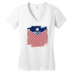 USA Flag Vector Women's V-Neck T-Shirt | Artistshot