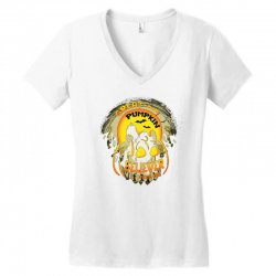 Skellington'spumpkin Women's V-Neck T-Shirt   Artistshot