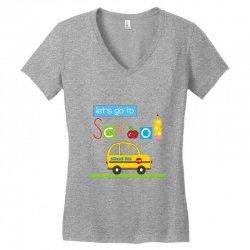 Let's go to school Women's V-Neck T-Shirt | Artistshot