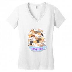 Cats Women's V-Neck T-Shirt | Artistshot