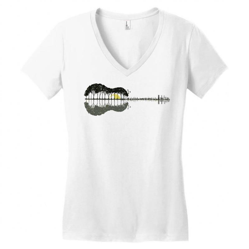 3304c91c2 Custom Guitar Town Women's V-neck T-shirt By Mdk Art - Artistshot