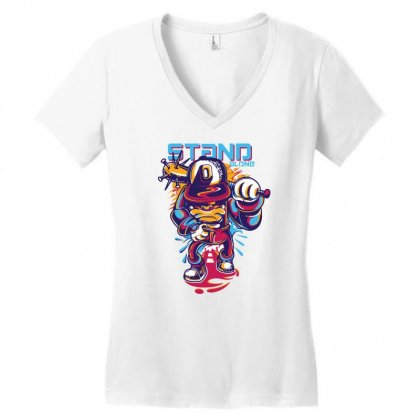 Stan Alone Women's V-neck T-shirt Designed By Gematees