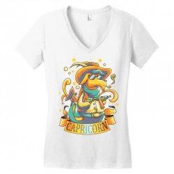 FUNNY ZODIAC SIGNS CAPRICORN Women's V-Neck T-Shirt | Artistshot