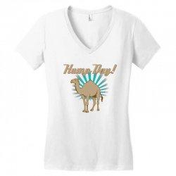 funny hump day camel Women's V-Neck T-Shirt   Artistshot