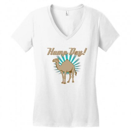 Funny Hump Day Camel Women's V-neck T-shirt Designed By Gematees