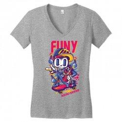 funny skate Women's V-Neck T-Shirt | Artistshot