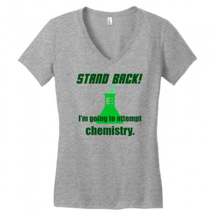Attempting Chemistry Women's V-neck T-shirt Designed By Gematees